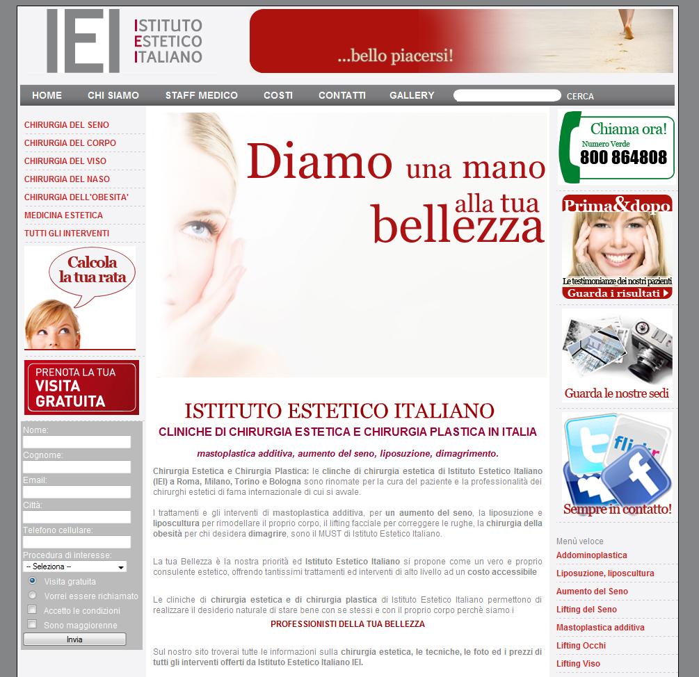 Chirurgia Estetica e Web: Istituto Estetico Italiano e Beauty Web Award 2010