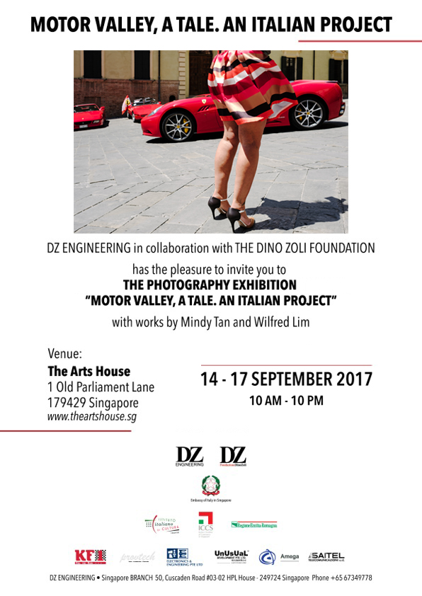 """A Singapore, The Art House, la Mostra Fotografica """"MOTOR VALLEY, A TALE. AN ITALIAN PROJECT""""."""