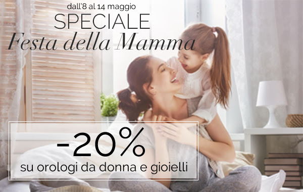 Festa della mamma: -20% sui gioielli su Orologeria Majer