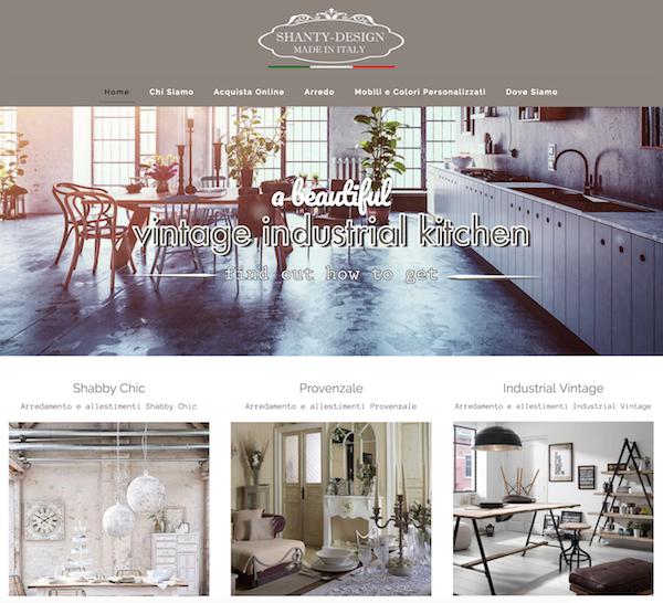 Shanty torna online arredamento in stile for Arredamento provenzale roma
