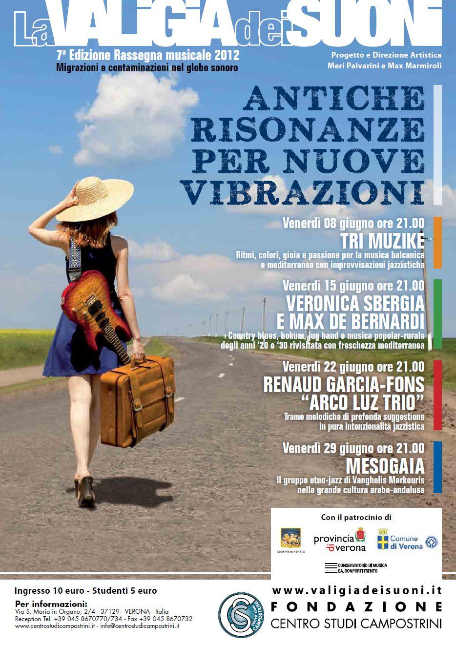 """Rassegna Musicale """"Antiche risonanze per nuove vibrazioni"""". 7a edizione"""