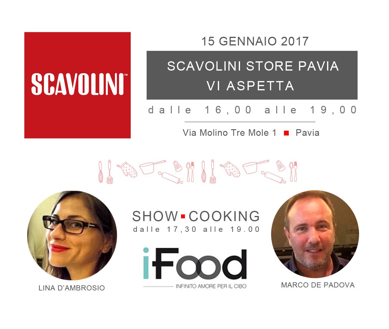 Scavolini e iFood presentano uno show-cooking aperto al pubblico con i famosi food blogger Lina D'Ambrosio e Marco De Padova