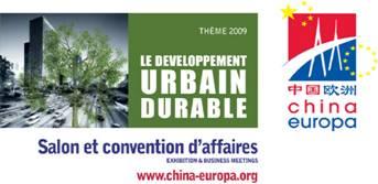 China Europa si conferma come l'appuntamento internazionale nel 2009 dello sviluppo urbano sostenibi