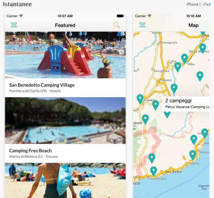 App Campeggi disponibile con la nuova versione per Android e iOS