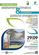 """Il 29 settembre a Pescara la conferenza """"Piani regionali di adattamento climatico ed attuazione delle politiche energetiche"""""""