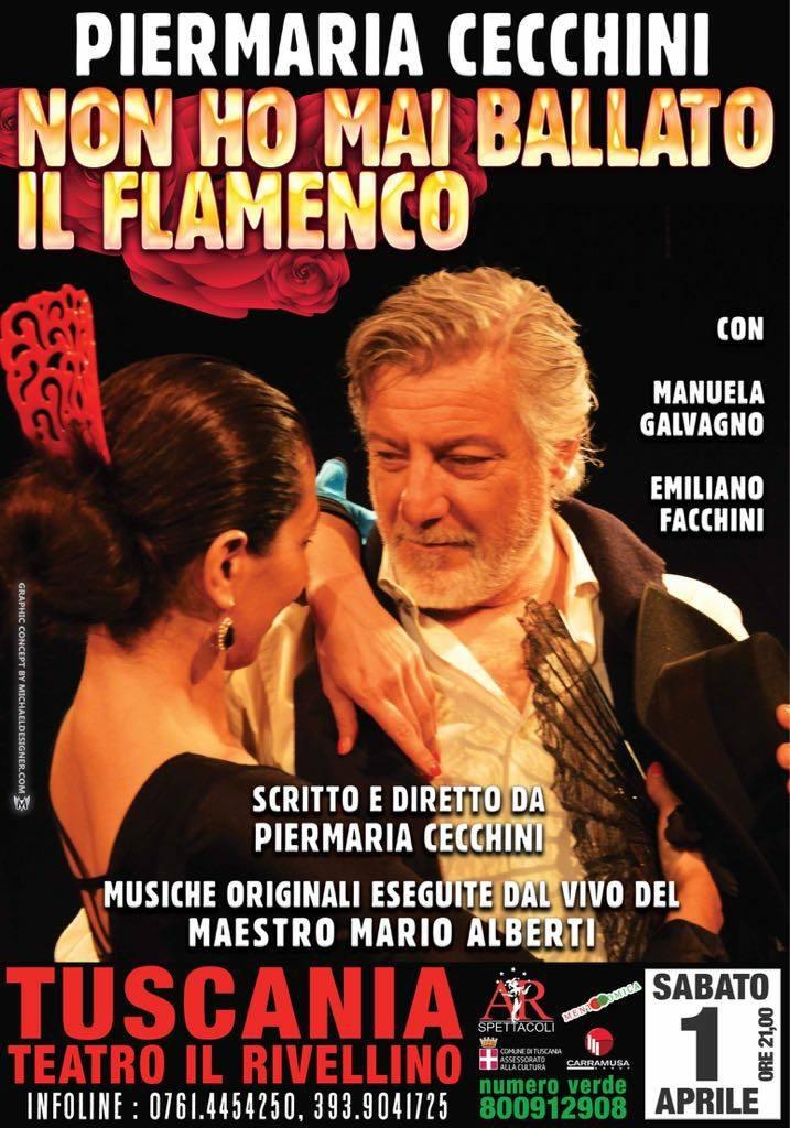 """""""Non ho mai ballato il flamenco"""", in scena l'amatissimo Pier Maria Cecchini"""