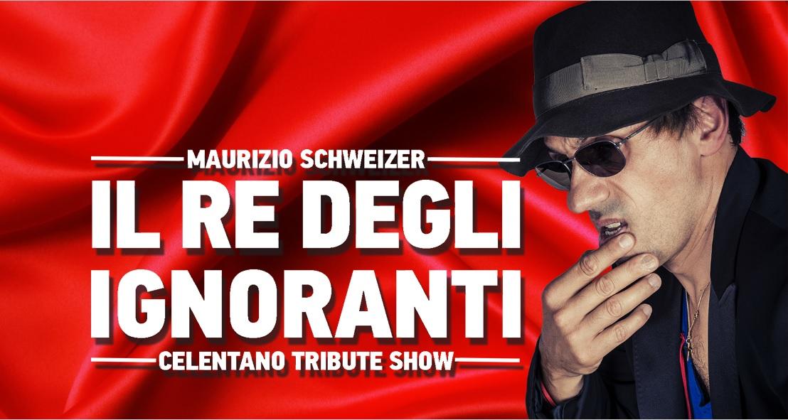 «IL RE DEGLI IGNORANTI», concerto-tributo internazionale di Schweizer a Celentano, venerdì 2 dicembre 2016 al Fuori Orario di Taneto di Gattatico (Re)