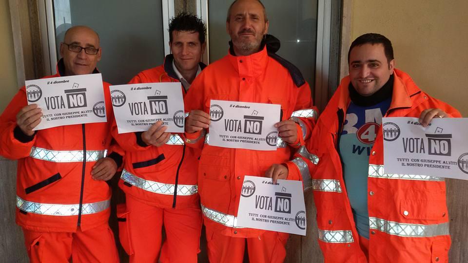 il leader del comparto della federazione nazionale lavoratori Giuseppe Alviti presenta le sue ragioni per votare NO al referendum