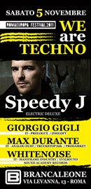 Speedy J @ We Are Techno con Max Durante