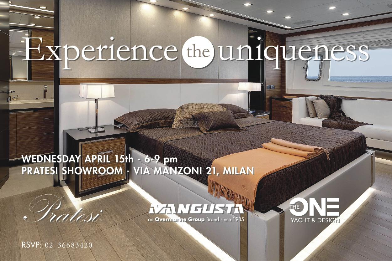 Evento fuorisalone the one yacht design 15 aprile for Yacht design milano
