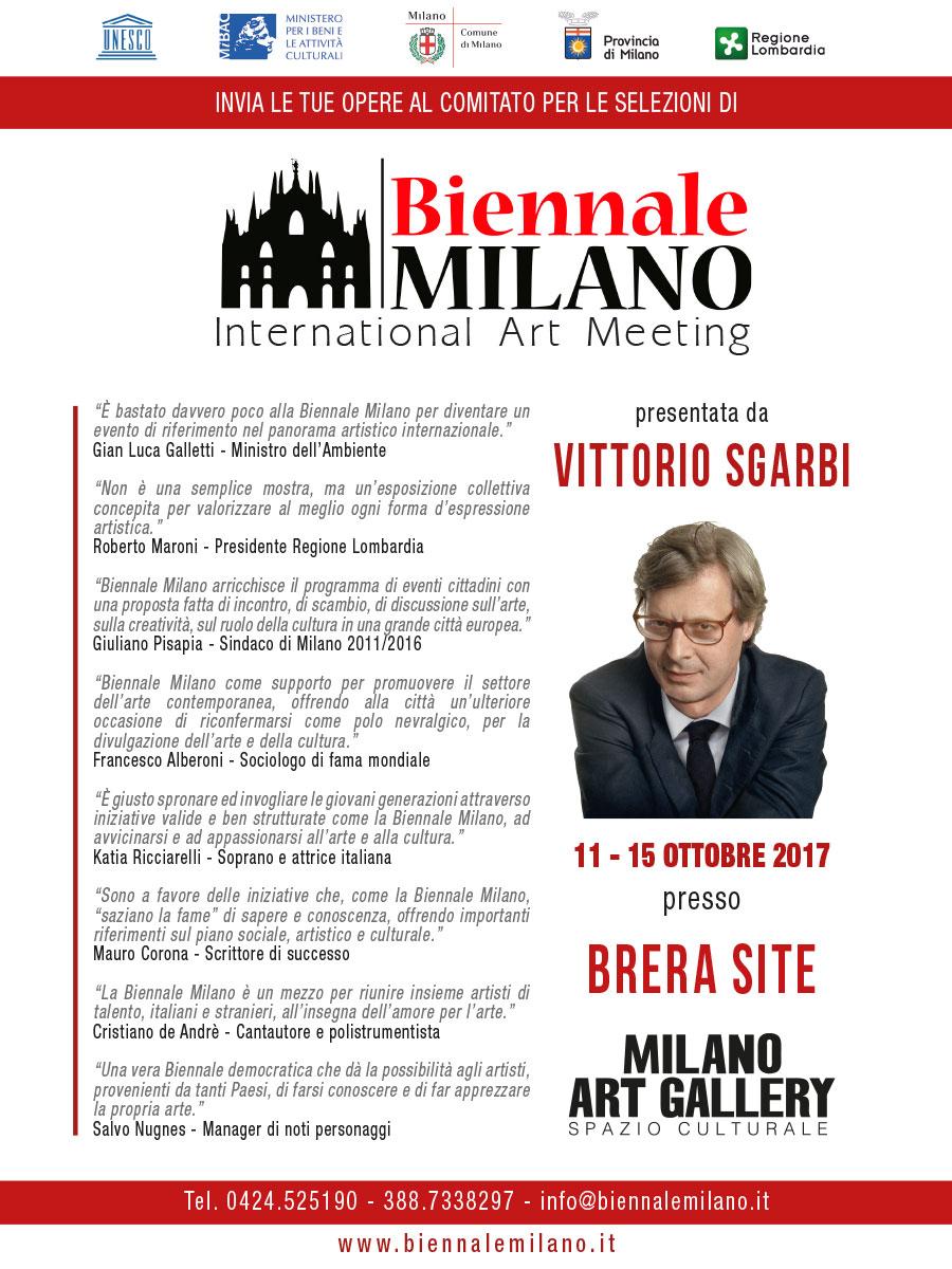 La Biennale Milano di Sgarbi apre con grandi eventi con Amanda Lear, Ricciarelli, Alberoni, Vespa, Liguori e Meluzzi