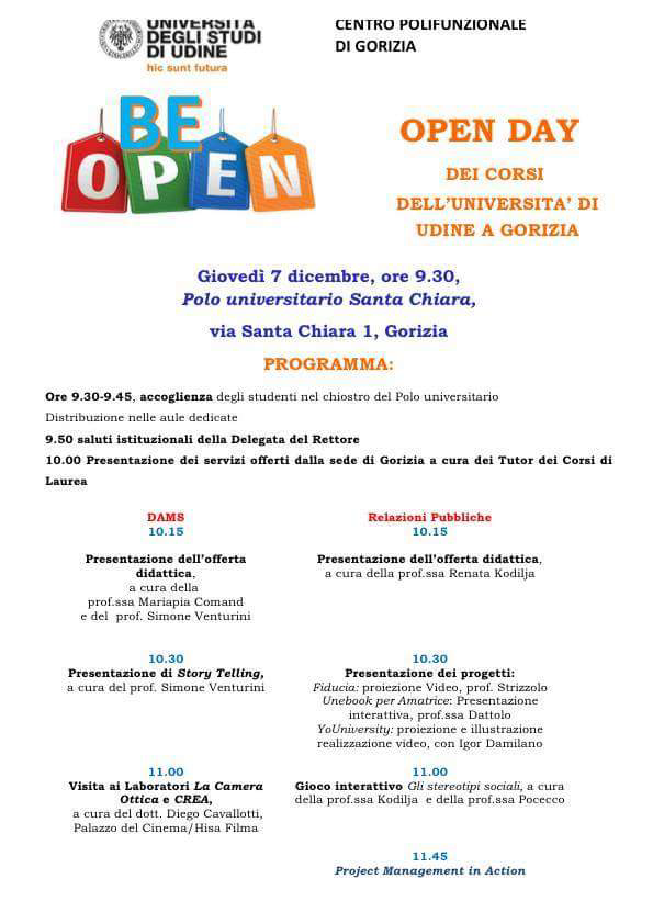 Comunicato stampa Open Day 2017