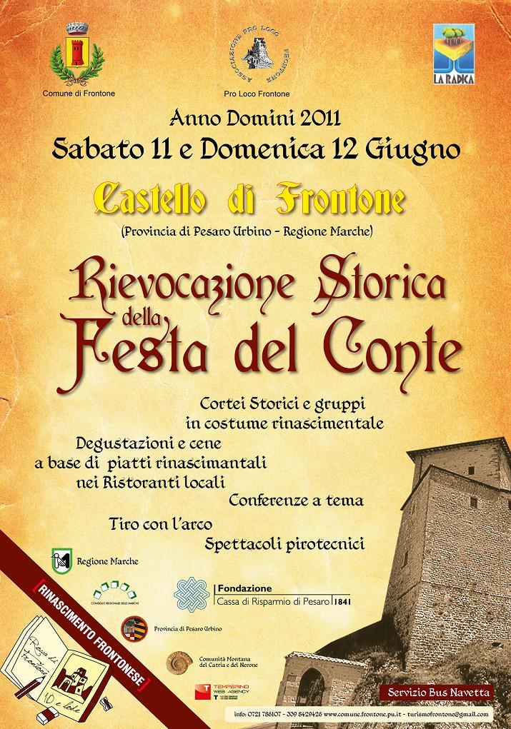 Frontone, rievocazione storica della Festa del Conte: un tuffo nel Rinascimento