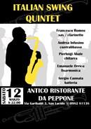 Italian Swing Quintet live da Peppone