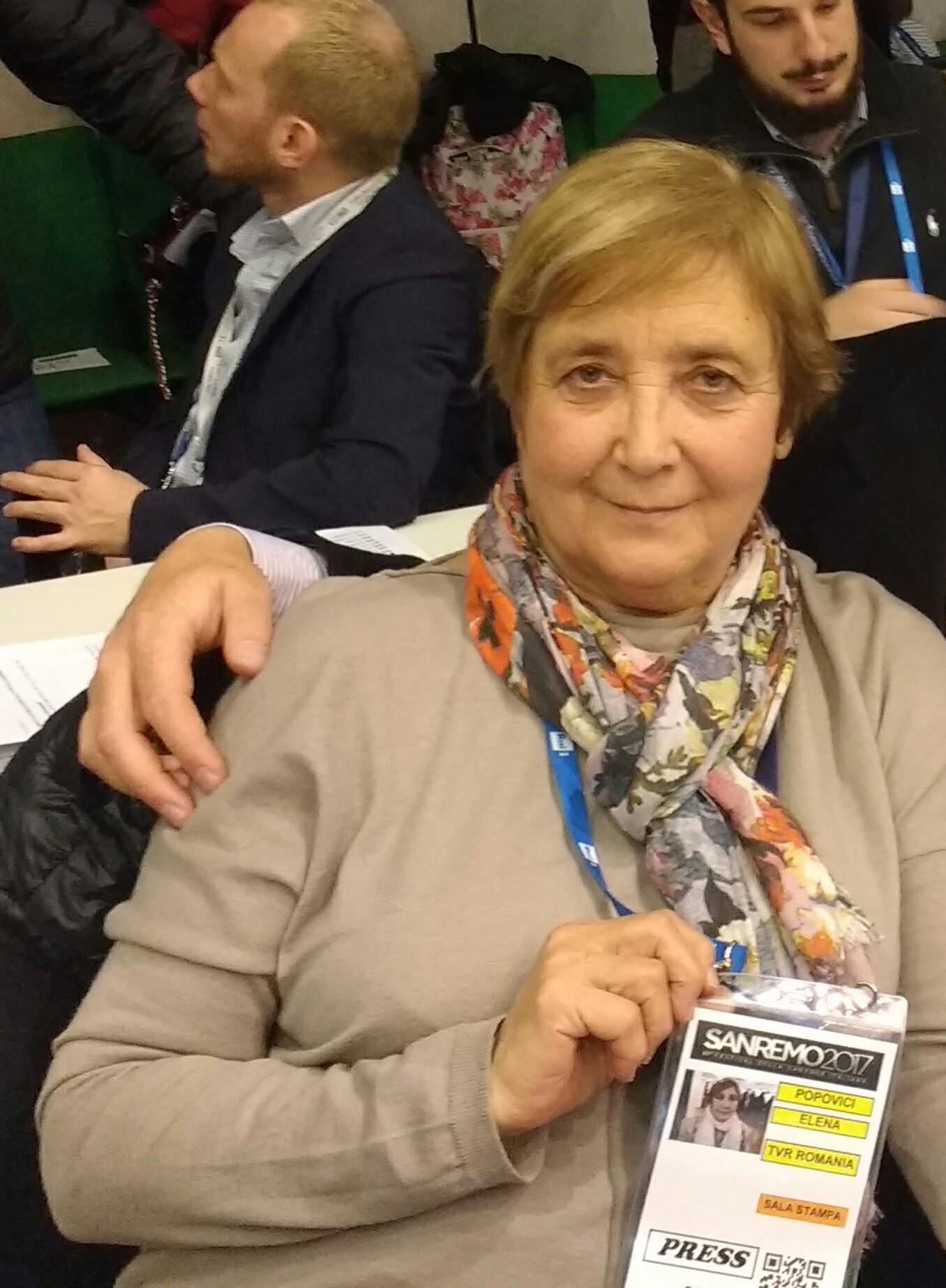 Ileana Popovici a Sanremo, storie musicali di uomini e di mondi