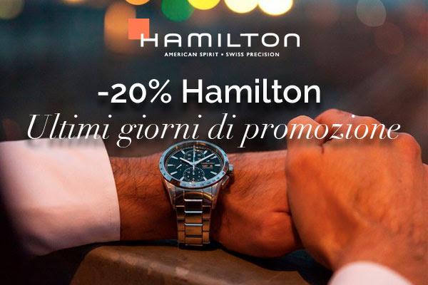 Ultimi giorni su Orologeria Majer: promozione orologi Hamilton
