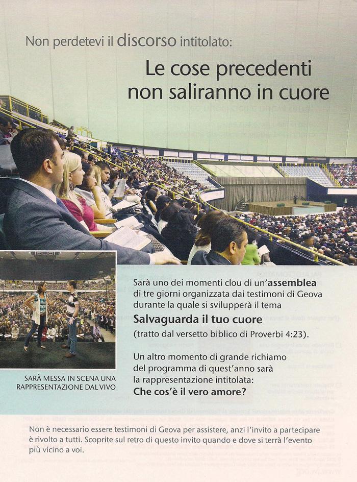 """I testimoni di Geova invitano tutti ad assistere all'assemblea di distretto """"Salvaguarda il tuo cuore"""" a Roma"""