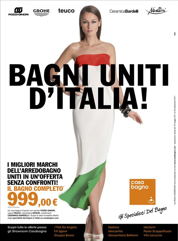 175a De Angelis Arredo Bagno.Tend Lancia La Nuova Campagna Bagni Uniti D Italia Per Casabagno