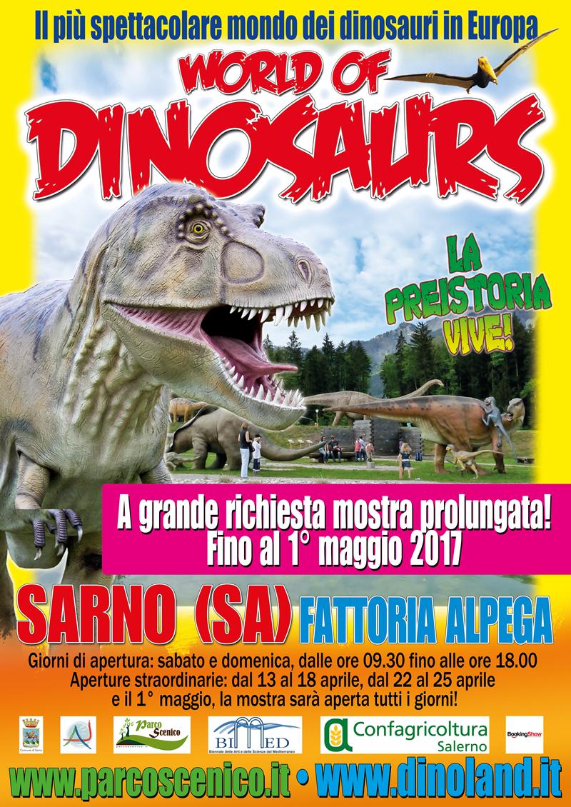 DINOMANIA a Sarno! Prolungata la mostra di dinosauri presso la fattoria Alpega!