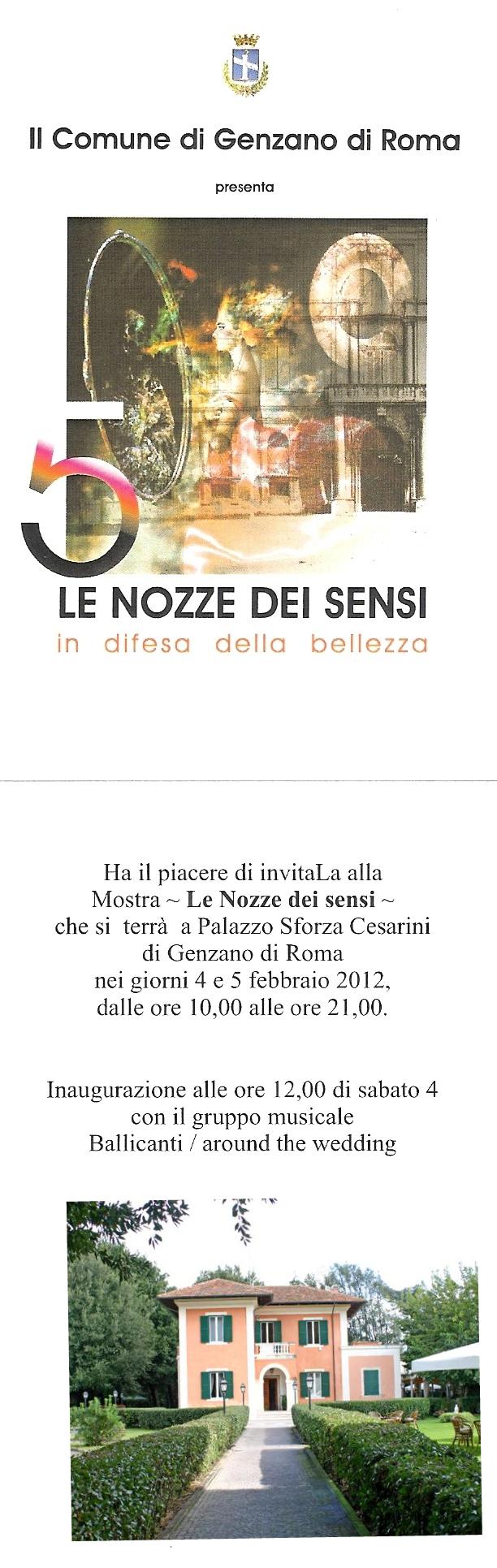 Villa Bernabei vi invita a Le Nozze dei Sensi presso Palazzo Sforza Cesarini