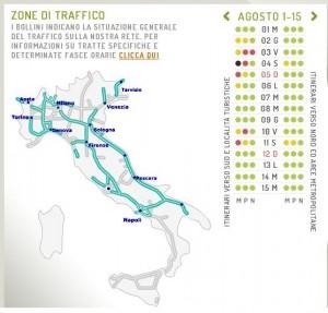 Meteo Autostrade: esodo Agosto 2012