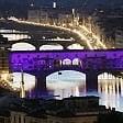 La Fiorentina compie 90 anni e il Ponte Vecchio si tinge di viola